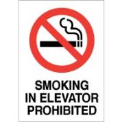 No Smoking safety sign - Smoking In Elevator 035